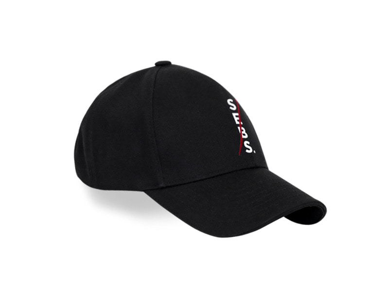 Sebs.Red COTTON_BLACK SMALL LOGO BALL CAP