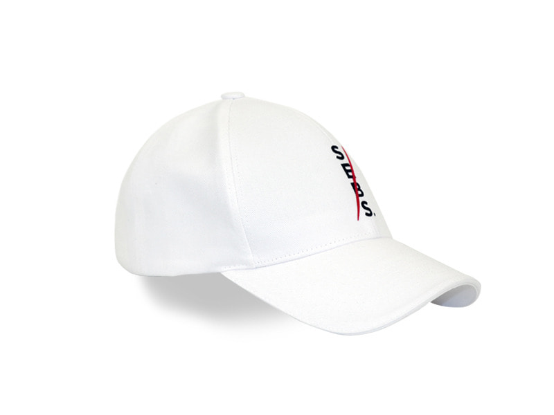 Sebs.Red COTTON_WHITE SMALL LOGO BALL CAP