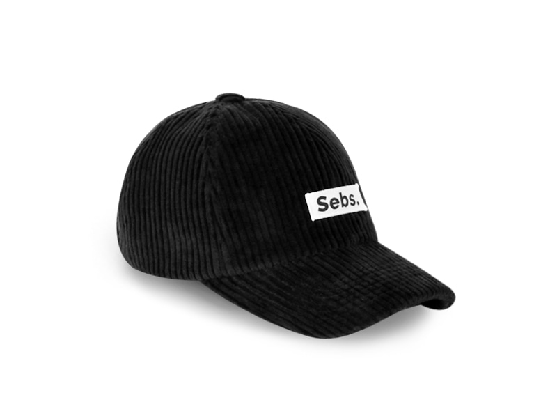 Sebs. CORDUROY_BLACK BALL CAP