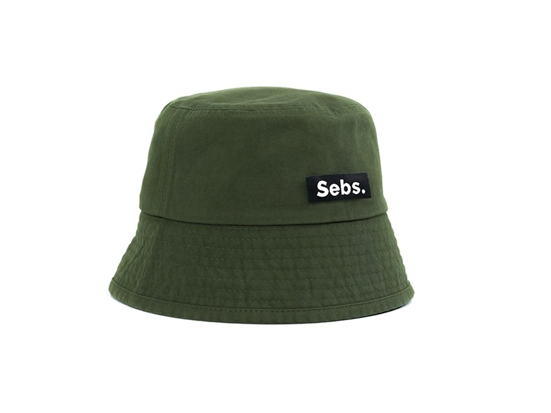 [Sebs.] COTTON BUCKET HAT KHAKI